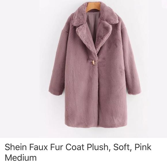 28a12ea8ca SHEIN Faux fur teddy bear coat